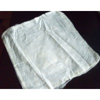 Шелковые платочки., 10 гр. Италия. Цвет - Натуральный белый, неокраш